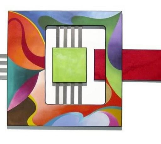 Colorful 3Pc Geometric Textured Abstract Art Wall Sculpture Wood For Geometric Modern Metal Abstract Wall Art (View 19 of 20)