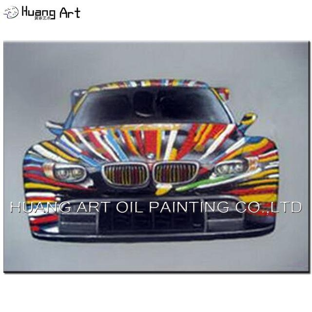Colorful Bmw Car Oil Painting For Boy's Room Decoration Hand Throughout Bmw Canvas Wall Art (View 8 of 20)