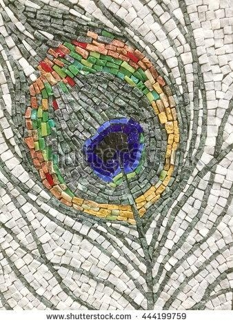 Colorful Stone Mosaic Art Abstract Wall Stock Photo 444199759 Inside Abstract Mosaic Wall Art (View 7 of 20)