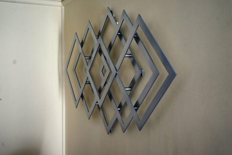 Colors : Geometric Modern Metal Abstract Wall Art With Geometric In Abstract Geometric Metal Wall Art (View 10 of 20)