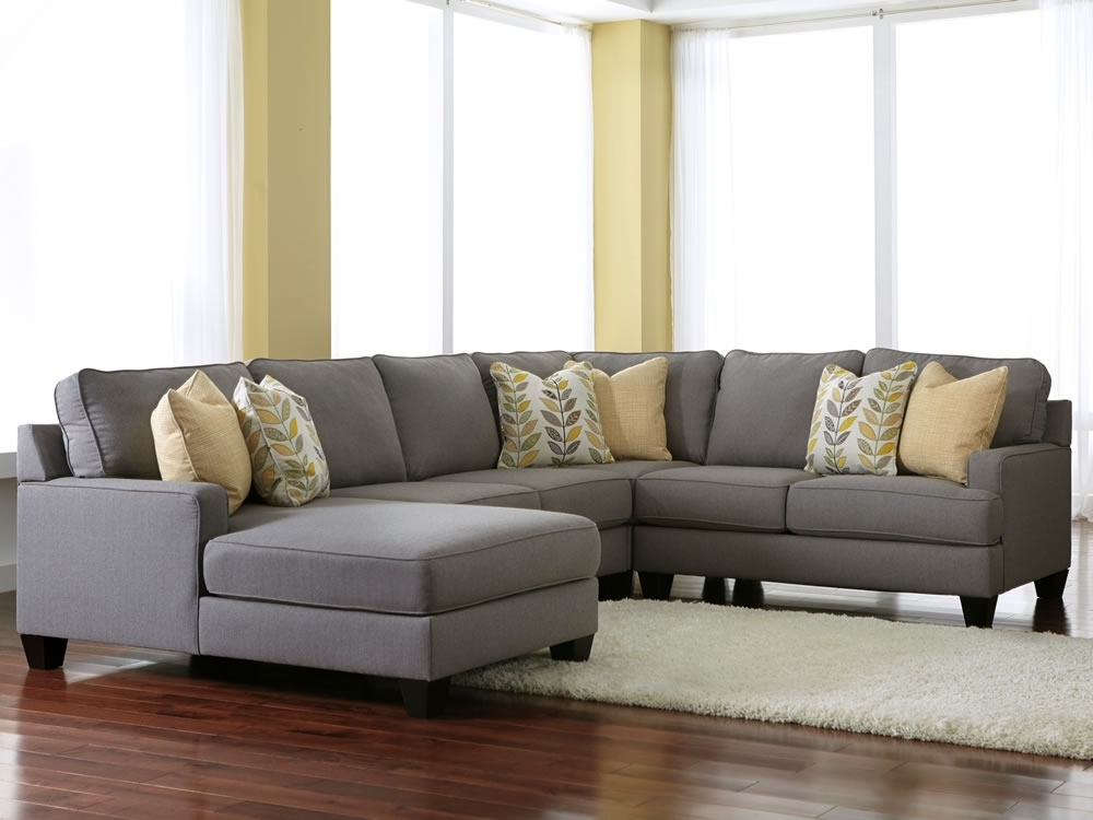 Comfortable Styling With Gray Sectional Sofa – Pickndecor Regarding Light Grey Sectional Sofas (Image 5 of 10)