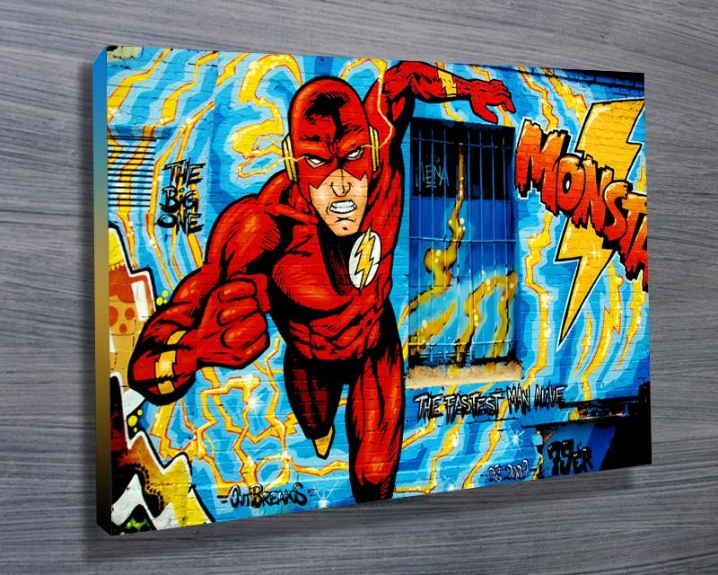 Comic Book Graffiti – Canvas Prints Australia For Graffiti Canvas Wall Art (Image 5 of 20)