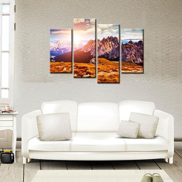 Competitive Price For Hd Modern Canvas Prints Mountain Peak Home Throughout Cape Town Canvas Wall Art (Image 10 of 20)