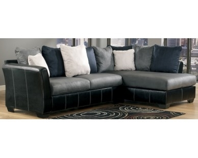 Contemporary 2 Piece Sectional – Two Tone Grey – Sam Levitz For Sam Levitz Sectional Sofas (Image 4 of 10)