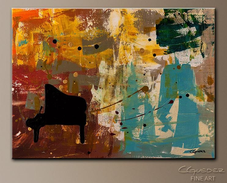 Contemporary Abstract Art Painting – Piano Concerto – Paintings Within Abstract Piano Wall Art (Image 10 of 20)
