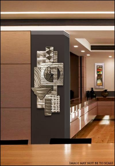 Contemporary Abstract Metal Wall Art Sculpture Silver &#034 Pertaining To Abstract Metal Wall Art Sculptures (Image 6 of 20)