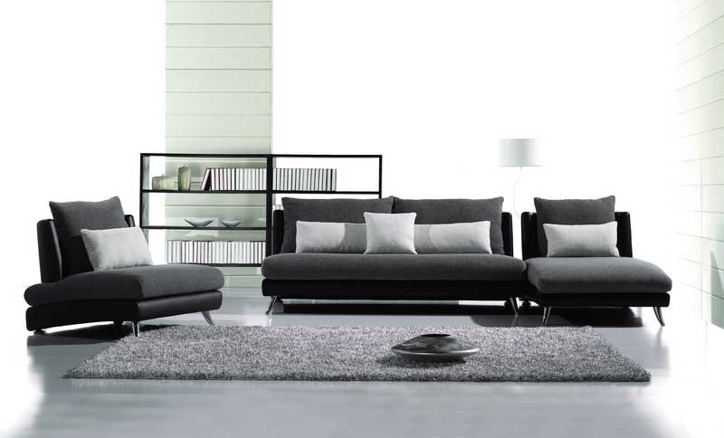 Contemporary Fabric And Leather Match Sofa Set Joe F60 | Sofas Intended For Contemporary Fabric Sofas (Image 2 of 10)