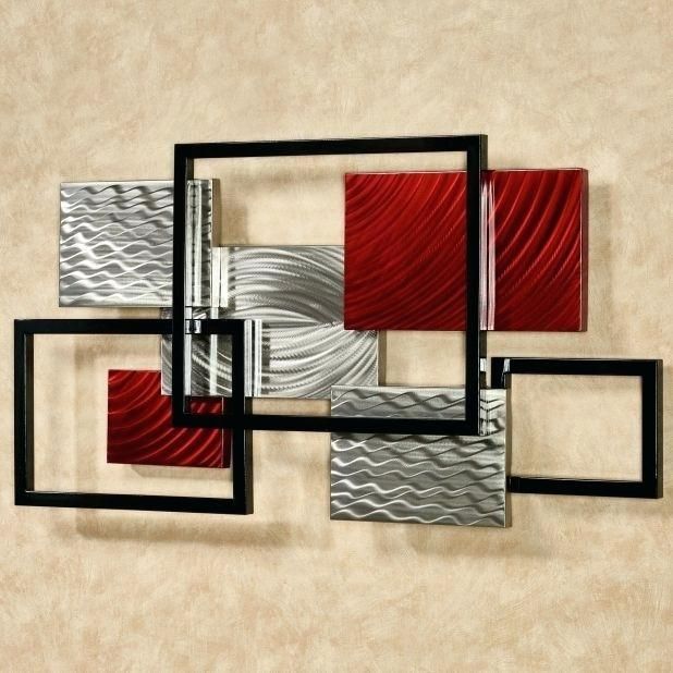 Contemporary Metal Wall Art Modern Metal Wall Art Contemporary With Geometric Modern Metal Abstract Wall Art (Image 7 of 20)