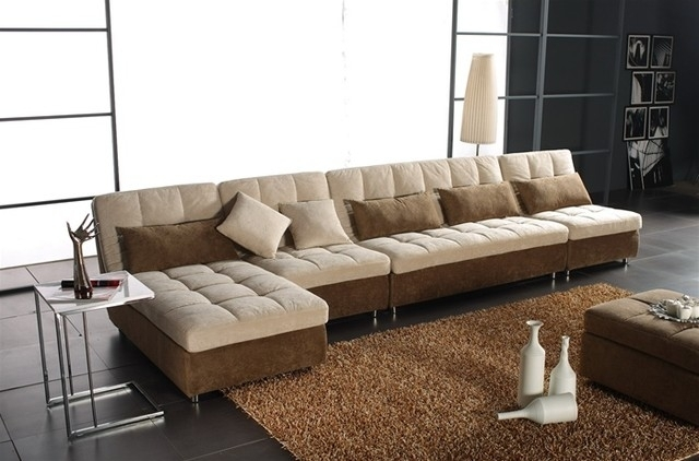 Contemporary Microfiber Sectional Sofa Microfiber Sectional Regarding Modern Microfiber Sectional Sofas (Image 3 of 10)