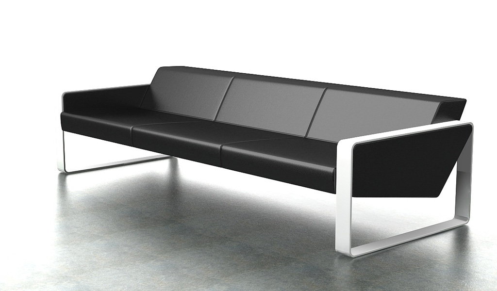 Contemporary Office Sofa In Leather  3 Seater: Boss's Cabin Inside Office Sofas (Image 1 of 10)