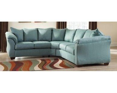 Contemporary Plush 2 Pc Sectional – Light Blue – Sam Levitz Pertaining To Sam Levitz Sectional Sofas (View 7 of 10)
