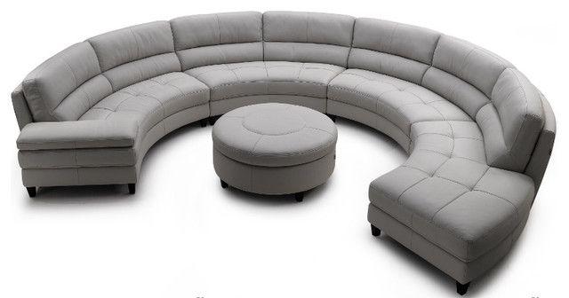 Contemporary Round Sofa Design For Spacious Area | Furniture With Round Sofas (Image 1 of 10)