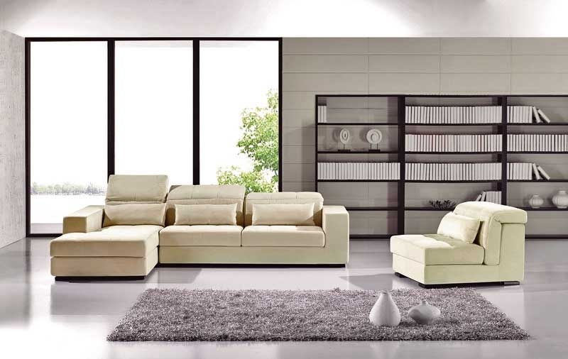 Contemporary Sectional Sofa Ae 2019 | Fabric Sectional Sofas Throughout Modern Microfiber Sectional Sofas (Image 4 of 10)