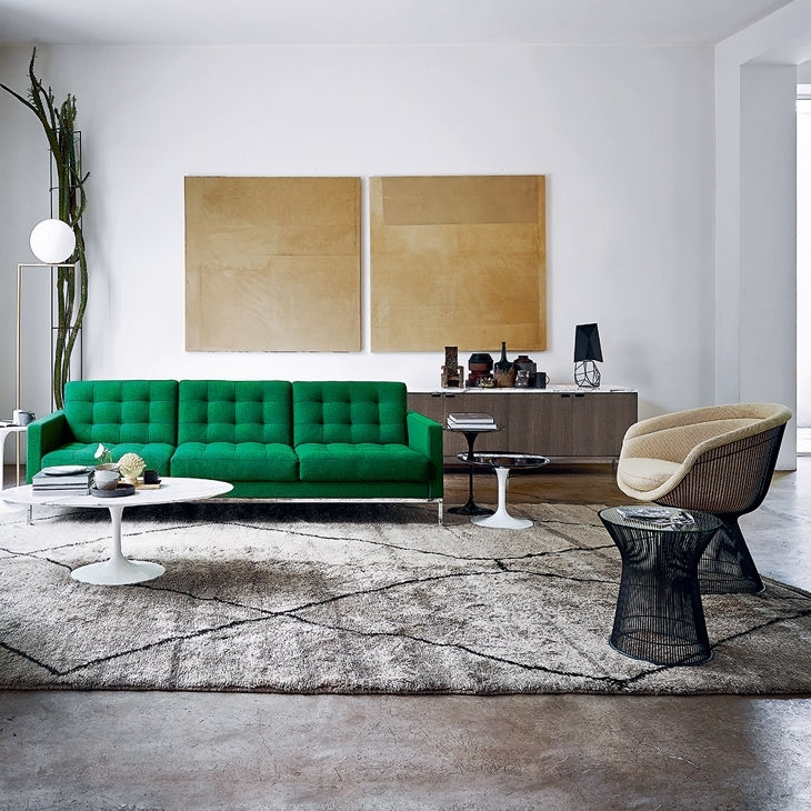 Contemporary Sofa / Fabric / Leather /florence Knoll – Relax Throughout Florence Knoll Fabric Sofas (Image 1 of 10)