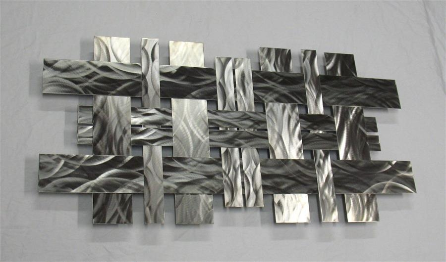 Contemporary Stainless Steel Metal Wall Sculpture | Modern Metal With Regard To Abstract Metal Wall Art Sculptures (Image 7 of 20)