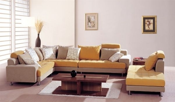 Contemporary Style Microsuede Fabric Sectional Little Rock Arkansas With Little Rock Ar Sectional Sofas (Image 5 of 10)