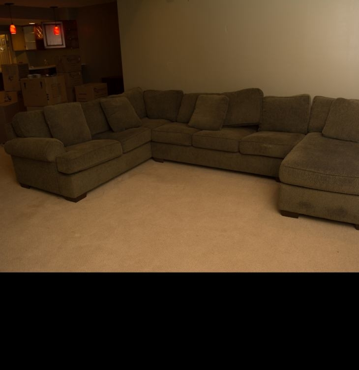 Contemporary Three Piece Sectional Sofadillard's Gallery Designs With Regard To Dillards Sectional Sofas (Image 1 of 10)