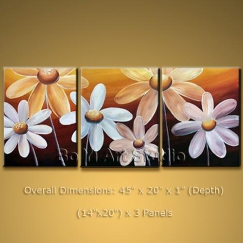 Contemporary Wall Art On Canvas Egg Flower Abstract Painting #2014 With Regard To Canvas Wall Art Of Flowers (View 9 of 20)