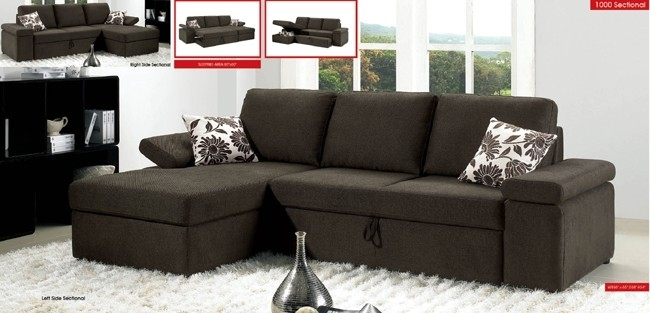Convertible Sofa Sectional Sectional Sofas With Sleeper Bed Amazing Throughout Convertible Sectional Sofas (Image 5 of 10)