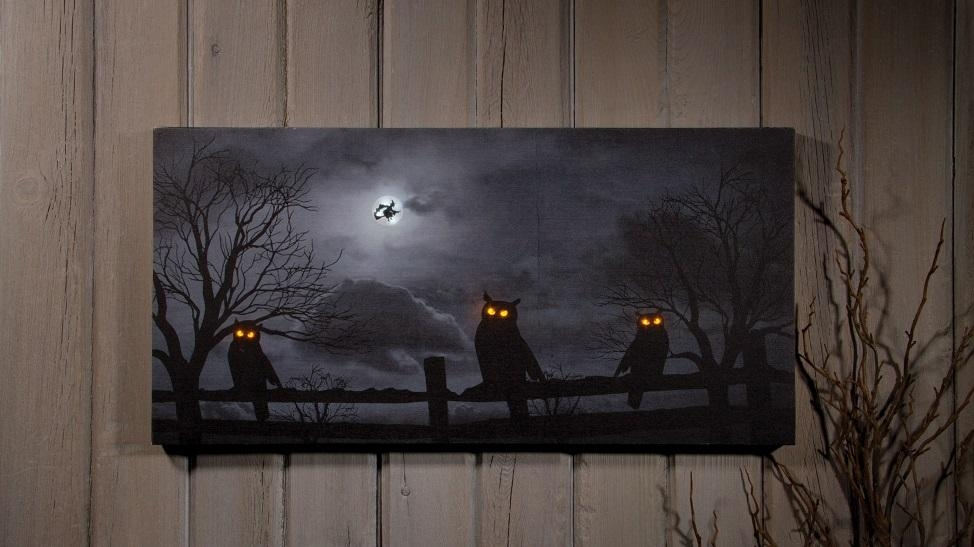 Cool 60+ Lighted Canvas Wall Art Design Ideas Of Church In Winter Regarding Halloween Led Canvas Wall Art (Image 10 of 20)
