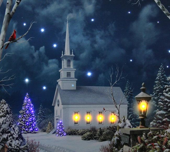 Cool 60+ Lighted Canvas Wall Art Design Ideas Of Church In Winter Throughout Lighted Canvas Wall Art (View 14 of 20)