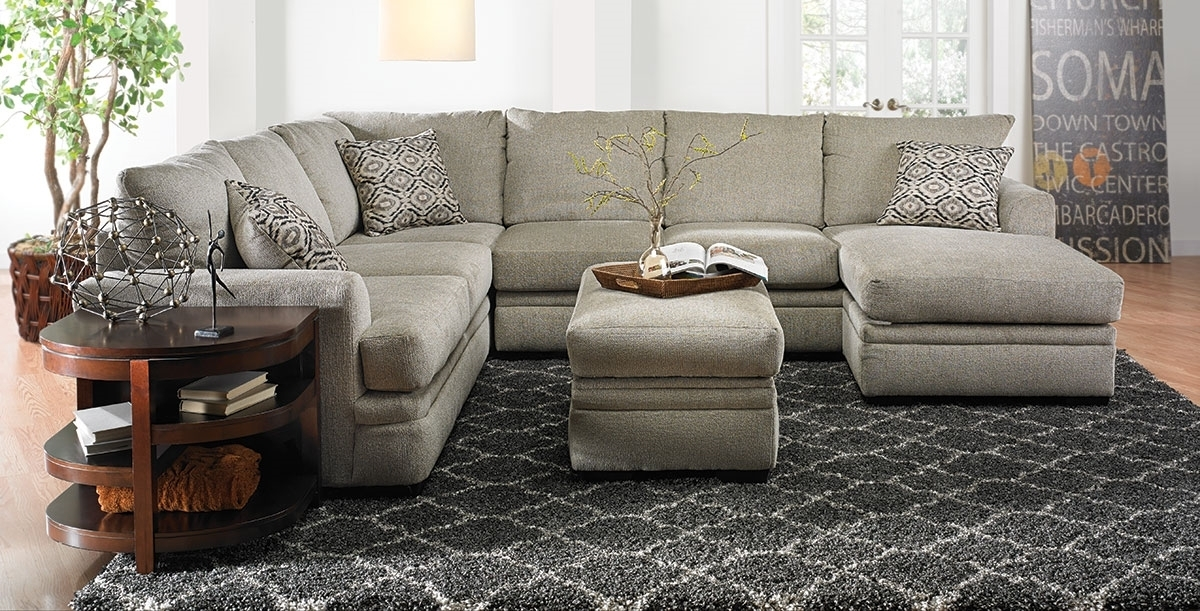 Cornell Platinum Sectional Sofa | Haynes Furniture, Virginia's With Regard To Haynes Sectional Sofas (Image 1 of 10)