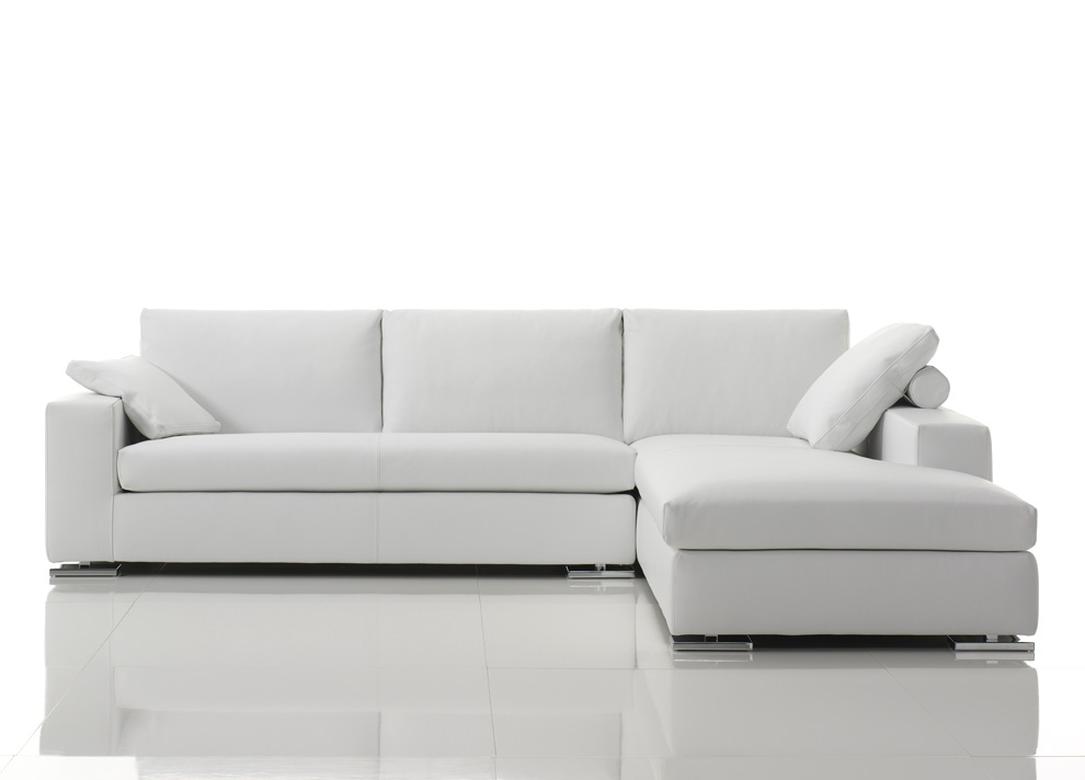 Corner Sofa Leather With Denver Leather Corner Sofa | Modern Leather In White Leather Corner Sofas (View 3 of 10)