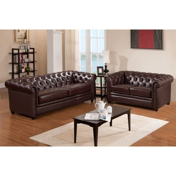 Costco: Canterbury Top Grain Leather Sofa And Loveseat | Home Throughout Canterbury Leather Sofas (Image 5 of 10)