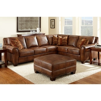 Costco Helena Leather Sectional And Ottoman | Decorating | Pinterest For Leather Sectional Sofas With Ottoman (Image 5 of 10)