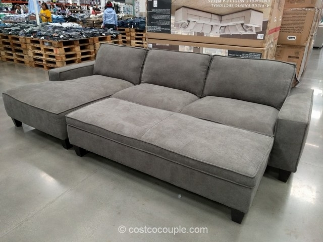 Costco Sleeper Sofa With Chaise Chaise Sofa With Storage Ottoman Throughout Sofas With Ottoman (Image 2 of 10)