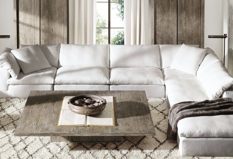 Couch: Cozy Restoration Hardware Couch Restoration Hardware Leather Intended For Restoration Hardware Sectional Sofas (Image 3 of 10)