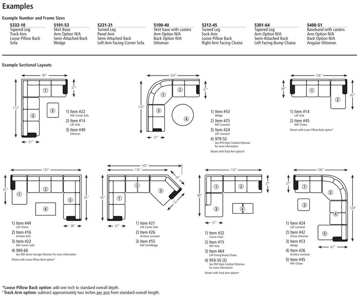 Couch Sizeslayout Dimensions Home Pinterest Sofa Layout Within Sectional Sofas By Size (Image 2 of 10)