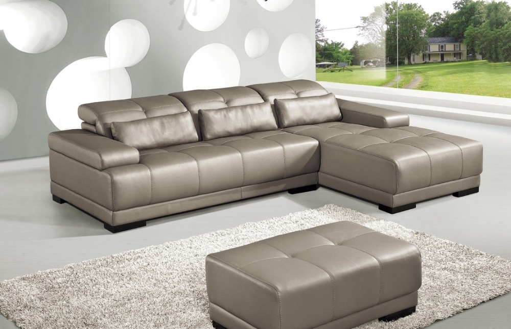 Cow Genuine Leather Sofa Set Living Room Sofa Furniture Couch Sofas Inside Corner Sofa Chairs (Image 4 of 10)