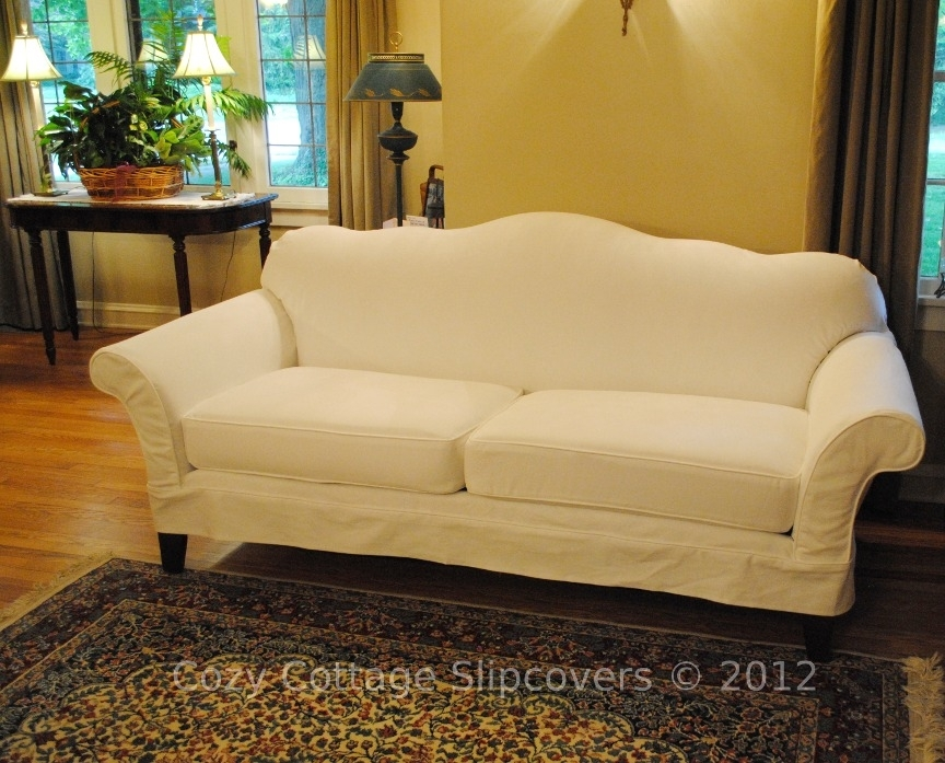 Cozy Cottage Slipcovers: Camel Back Sofa Inside Slipcovers Sofas (View 7 of 10)