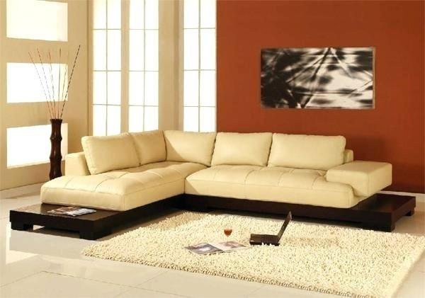 Cream Colored Leather Sofa – Handmadeaccessories (Image 4 of 10)