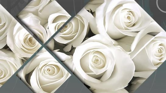 Cream Roses Diamond Canvas Wall Art Split Panel 148Cm Wide In Roses Canvas Wall Art (View 15 of 20)