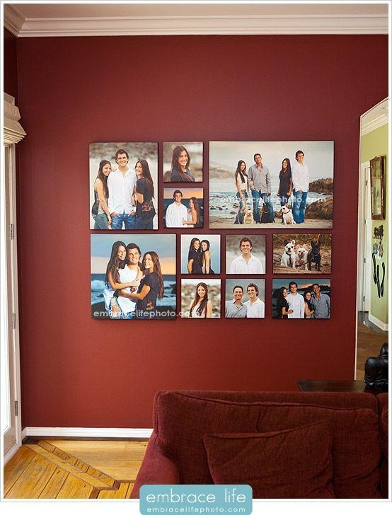 Create A Black And White Gallery Wall Of Favorite Family Pictures Intended For Portrait Canvas Wall Art (Image 7 of 20)