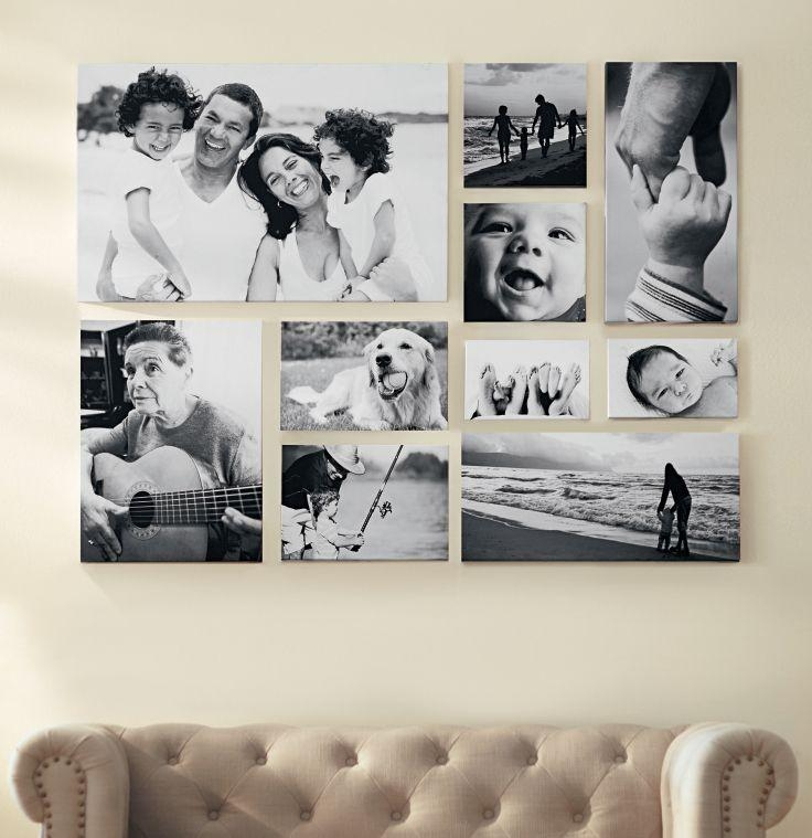 Create A Black And White Gallery Wall Of Favorite Family Pictures With Regard To Black And White Photography Canvas Wall Art (View 12 of 20)
