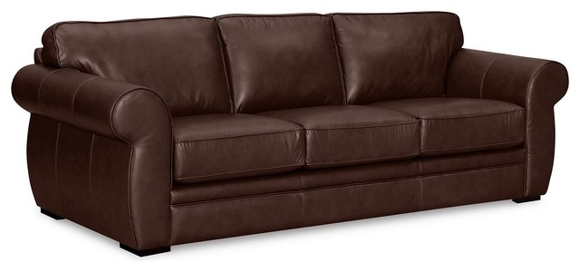 Creative Of Brown Leather Sleeper Sofa Cool Living Room Furniture Throughout Macys Leather Sofas (View 3 of 10)