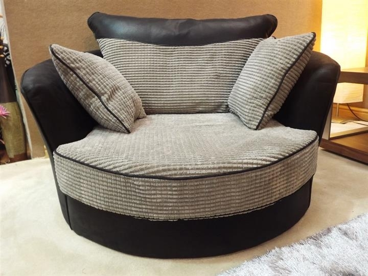 Cuddler Swivel Sofa Chair Cuddle Sofas And Chairs 4340 – Serbyl Decor Intended For Swivel Sofa Chairs (Image 5 of 10)