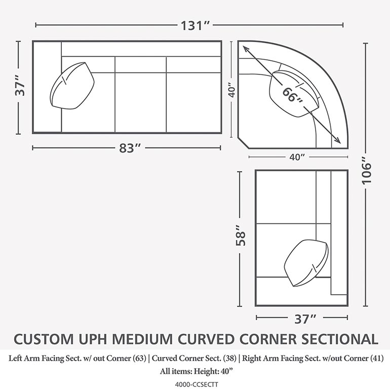 Curved Corner Sectional – Woven | Bassett Furniture Intended For Rounded Corner Sectional Sofas (Image 2 of 10)