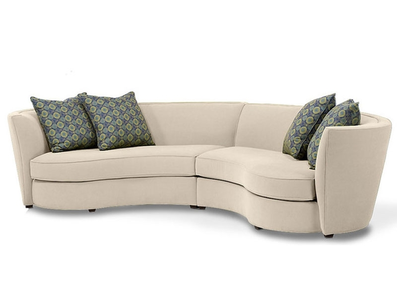 Curved Sectional Sofa – Tjihome With Rounded Sofas (Image 3 of 10)