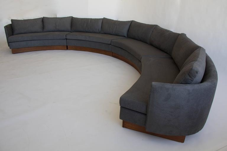 Custom Semi Circular Sectionalcarson's Of North Carolina At 1Stdibs Pertaining To Sectional Sofas In North Carolina (Image 6 of 10)