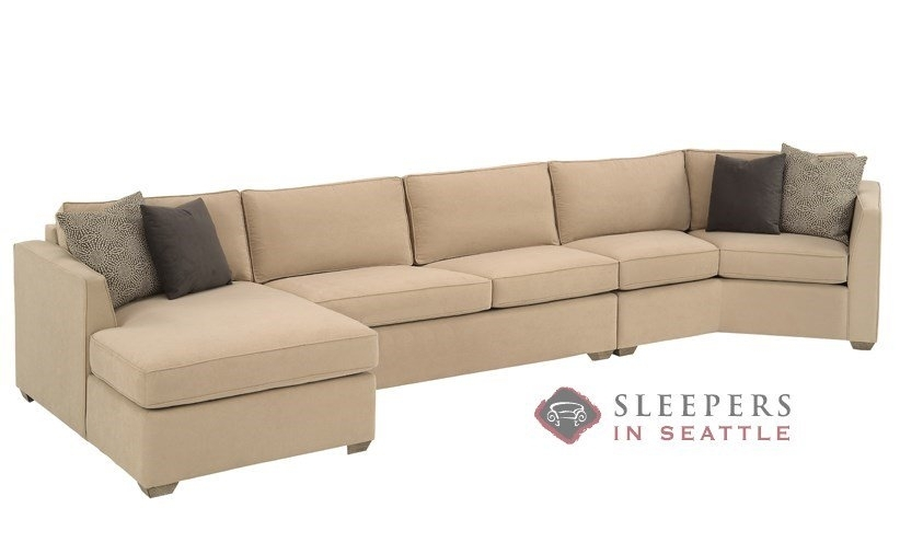 Customize And Personalize Strata Chaise Sectional Fabric Sofa With Angled Chaise Sofas (Image 4 of 10)