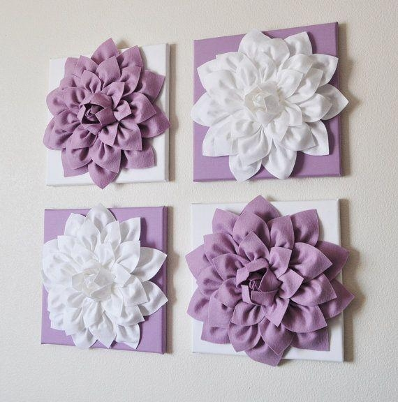 Dahlia Flower Textured Wall Art – Dahlia Art – Home Decor Throughout Lilac Canvas Wall Art (Image 5 of 20)