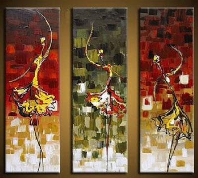 Dance Girl Modern Canvas Art Wall Decor Abstract Oil Painting Wall With Dance Canvas Wall Art (Image 8 of 20)