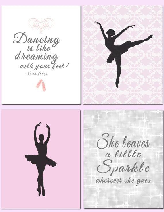 Dancing Girl – Kids Wall Art Dancer Ballet Ballerina Quote She Inside Dance Quotes Canvas Wall Art (Image 5 of 20)