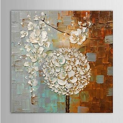 Dandelion Modern Abstract Oil Painting Wall Art Ready To Hang Within Dandelion Canvas Wall Art (Image 5 of 20)