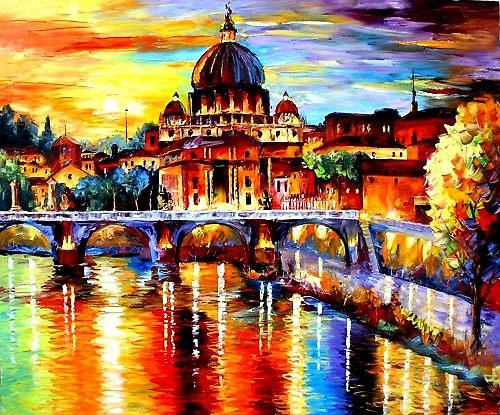 Daniel Wall – Intense Impressionism  Glorious Rome | Art For Canvas Wall Art Of Rome (Image 12 of 20)