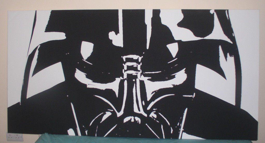 Darth Vadar – Canvas – Wall Art – Very Large | In Tain, Highland Within Gumtree Canvas Wall Art (Image 5 of 20)